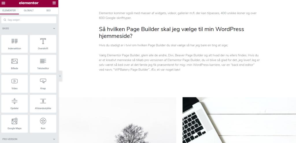 Page Bulder hvad er det? Hvilken Page Builder skal jeg vælge til min WordPress hjemmeside, Divi, Elementor eller en helt tredje?