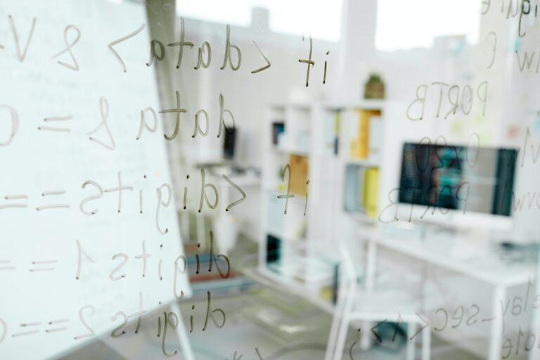 Coding languages written on glass