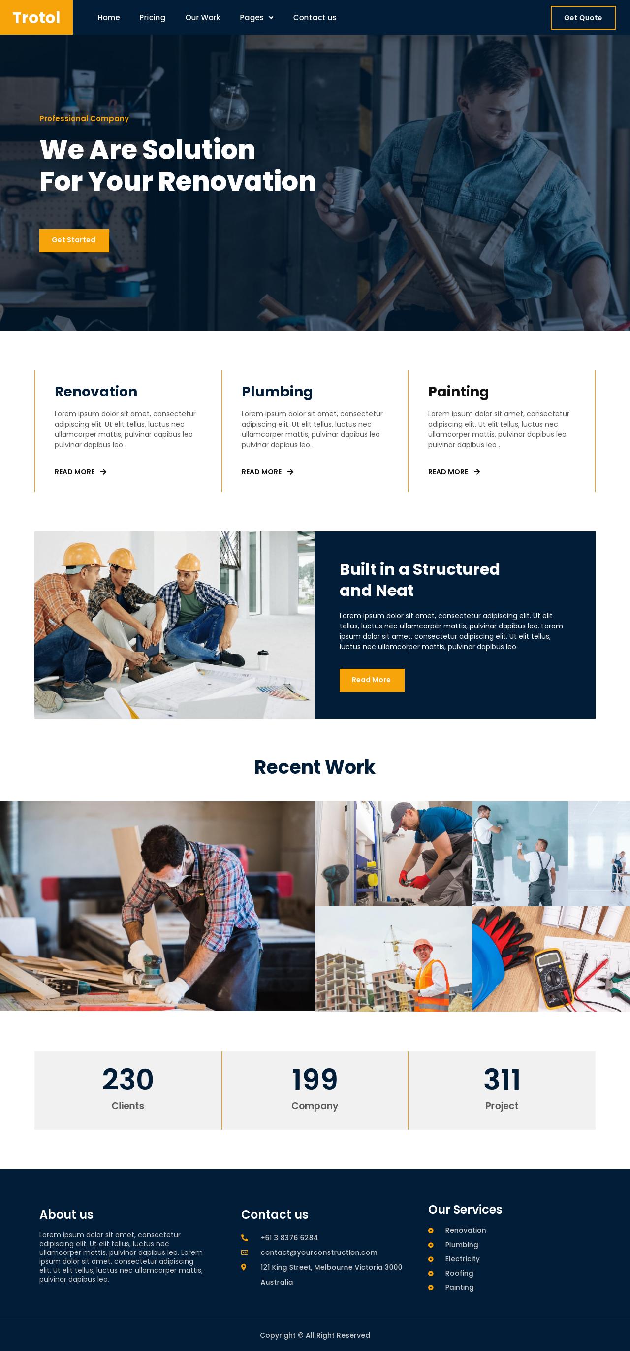 Ny hjemmeside gulvfirma og Webdesigner og seo-optimering, Ny hjemmeside VVS Blikkenslager kloak inkl. SEO