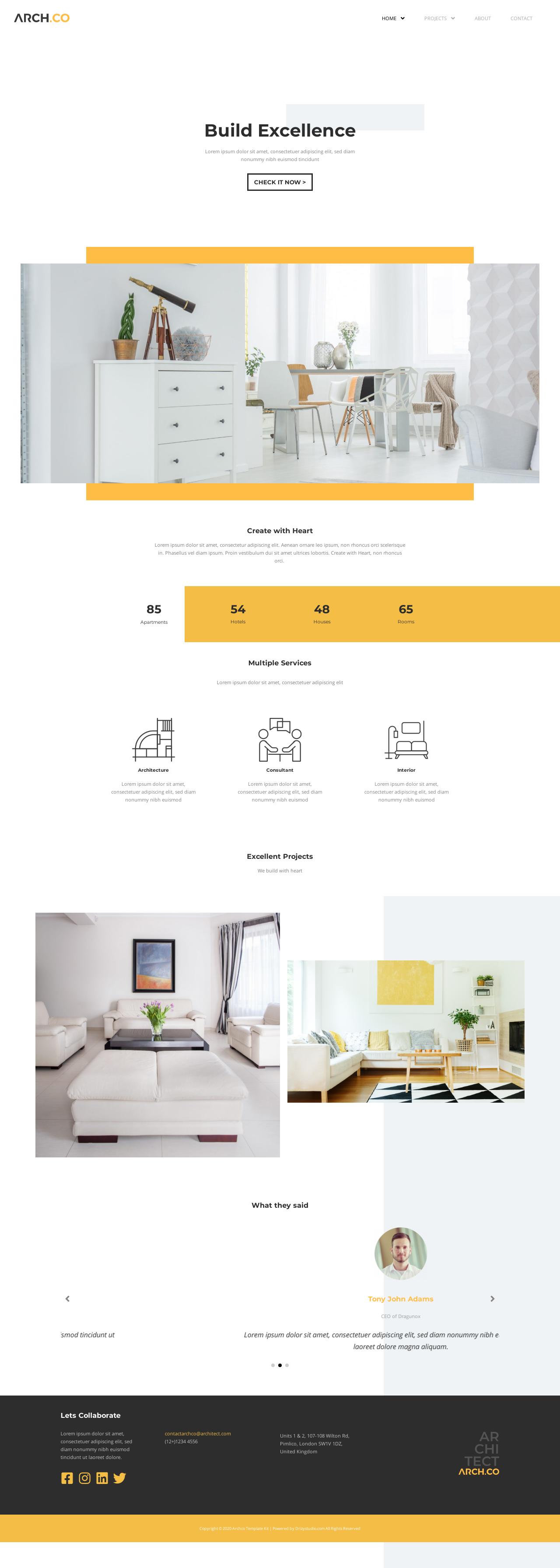 Ny hjemmeside ejendomsmæglere og arkitekter