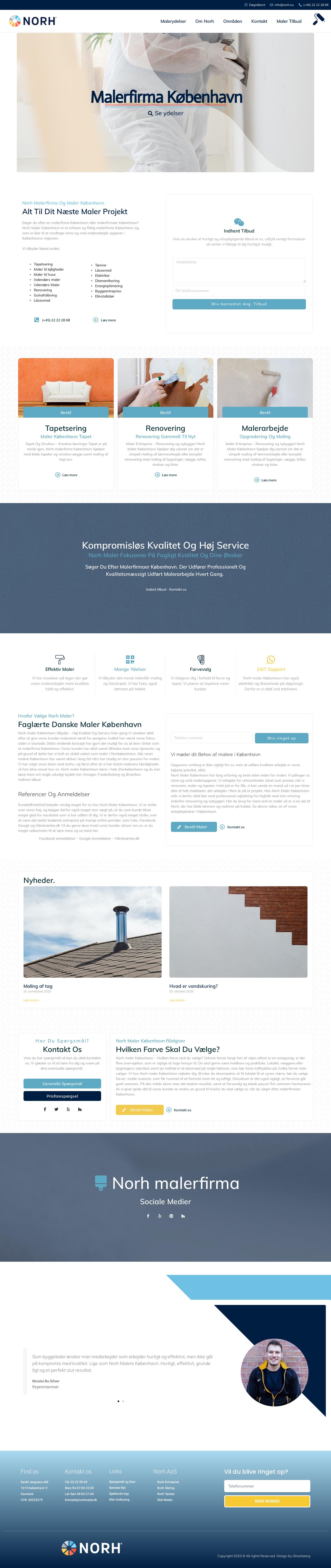 Webdesign og SEO til ny hjemmeside maler og malerfirma