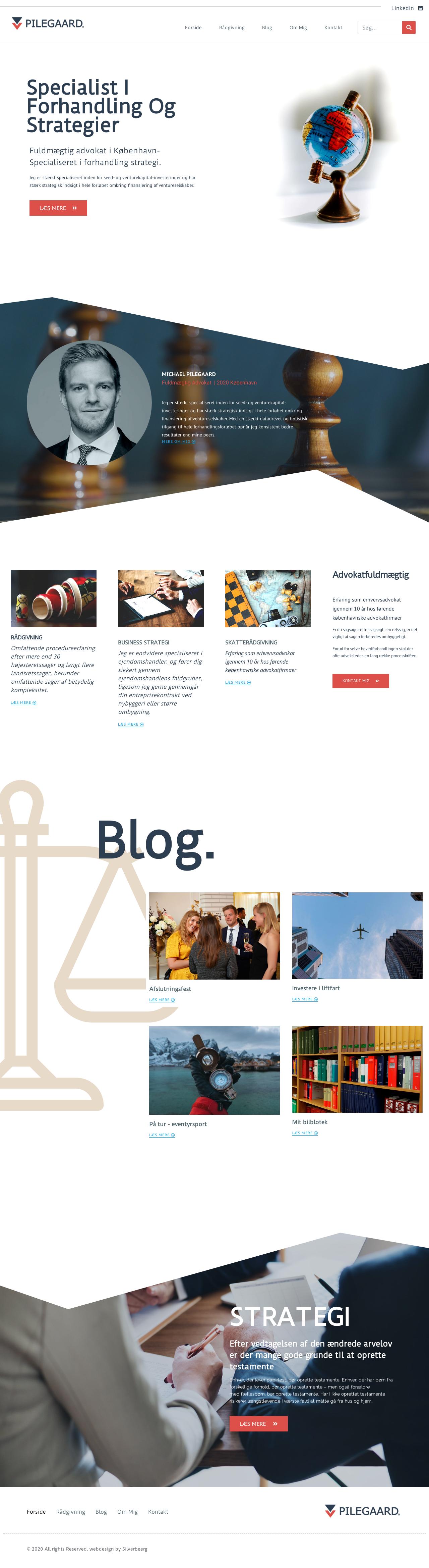 Ny hjemmeside advokat & jurist inkl. SEO