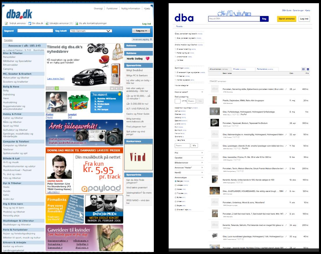 Inspiration Hjemmesider og webdesign nostalgi DBA 2005 Vs. 2020