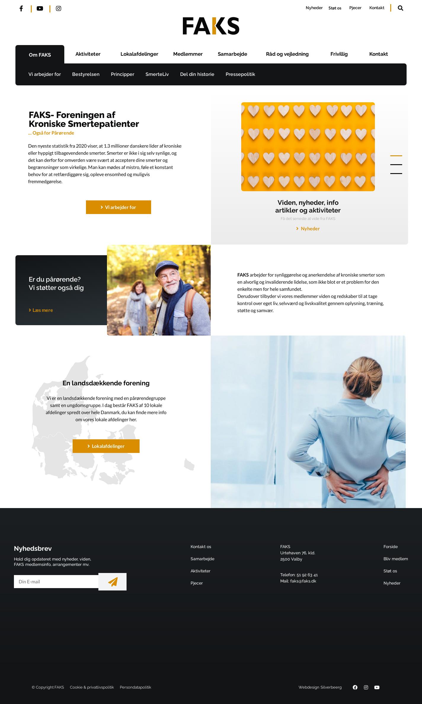 Hjemmesidedesign udviklet til FAKS.