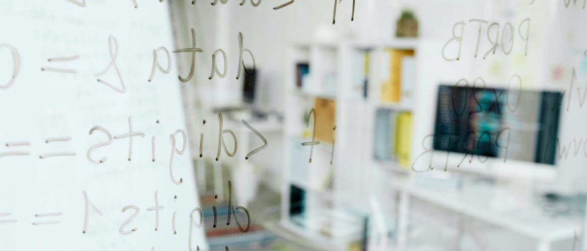 Coding languages written on glass